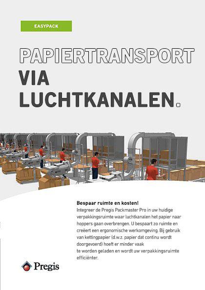Flyer voor papiertransport via luchtkanalen